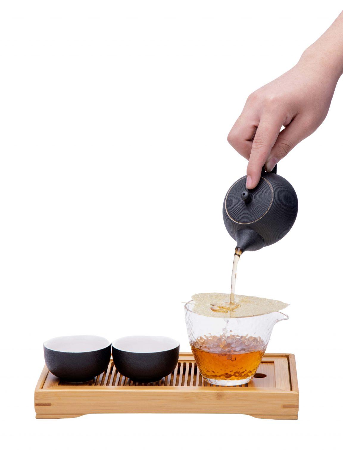 Tea set without background