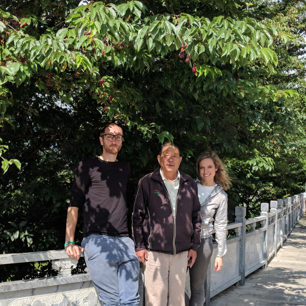 Dorina and Gregor in Yunnan with Mr. Xie